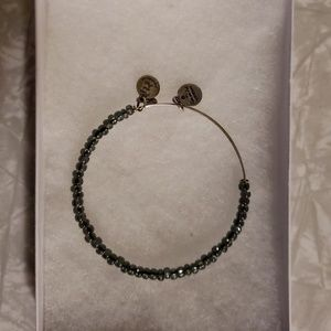 Alex and Ani Grey Beaded silver bracelet